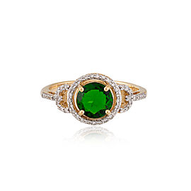 14k Yellow Gold Chrome Diopside Ring