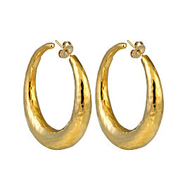 Ippolita Glamazon 18K Yellow Gold Oval Hoop Earrings