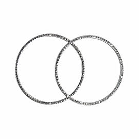 Chrome Hearts Set of 2 Sterling Silver Bangle Bracelets