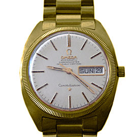 Omega Constellation 18K Yellow Gold Day Date Caliber 751 34mm Watch