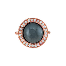 Misahara Stena Ring (Hematite) 18k Rose Gold Ring