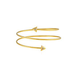 Misahara Unity One Double Coil 18k Yellow Gold Bracelet