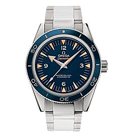 Omega Seamaster 300 23390412103001 Blue Dial Titanium 41mm Mens Watch