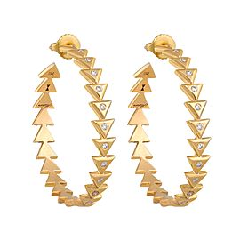 Unity Eternity Yellow Gold Earrings