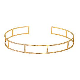 Adriatic Yellow Gold Koral Neck Cuff