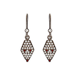 Misahara Drina Dew Earrings 18k Oxidized White Gold Earrings