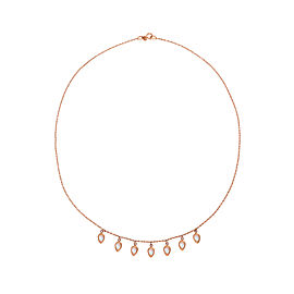 Misahara Waterfall 18k Rose Gold Necklace