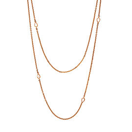 Misahara Water Splash 18k Rose Gold Necklace