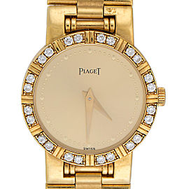 Piaget Dancer 18K Yellow Gold & Diamond Bezel 24mm Womens Watch