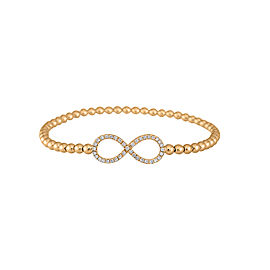Dainty Collection 18k Yellow Gold Diamonds Bracelet