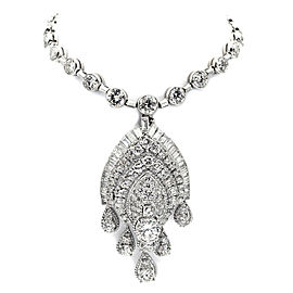 Van Cleef & Arpels Diamond Platinum Convertible Pendant Necklace