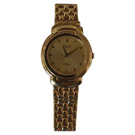 Rolex Cellini 6622 S107474 18K Yellow Gold 33mm Quartz Mens Watch