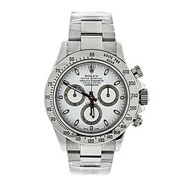 Rolex Stainless Steel Daytona White Dial Watch