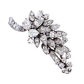 David Webb Platinum & 5.50ct Diamond Cluster Brooch