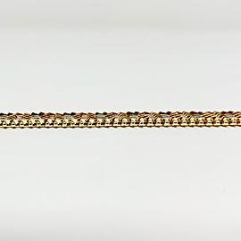 14k Yellow White and Rose Gold Vintage Fancy Omega Link Bracelet