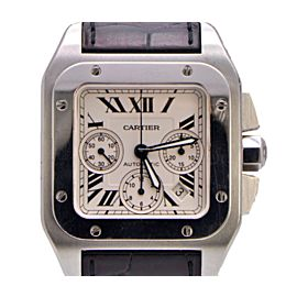 Cartier Santos 100 W20090X8 Stainless Steel 42.7mm Mens Watch