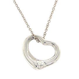 Tiffany & Co. 925 Sterling Silver Elsa Peretti Open Hearts Necklace