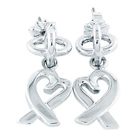 Tiffany & Co. Picasso Sterling Silver Loving Heart Dangle Earrings