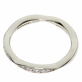 CHANEL PT950 Platinum Camellia Collection Half Eternity Ring