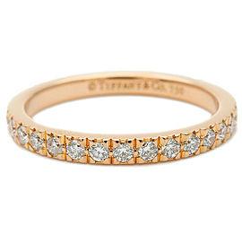 Tiffany & Co. 18k Rose Gold Diamond Novo Half Circle Ring