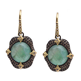 Armenta Old World 18k Yellow Gold Blackened Sterling Silver Multi-Stone Earrings