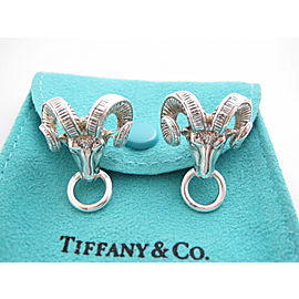 Tiffany & Co Silver RARE Ram Sheep Animal Clip On Earring