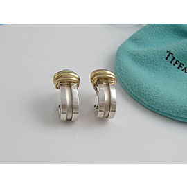 Tiffany & Co Silver 18K Yellow Gold RARE Atlas Clip On Earring