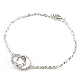 CARTIER 18K white gold Baby love Bracelet CHAT-251