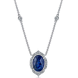 Penny Preville 18K White Gold with Sapphire & Diamond Pendant Necklace