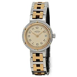 HERMES Clipper Date Stainless&Gold Plated Quartz Women's Watch