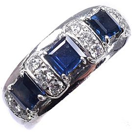 POLA Platinum/diamond sapphire Ring