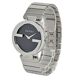 GUCCI 133.3 Interlocking YA133307 black Dial Quartz Men's Watch