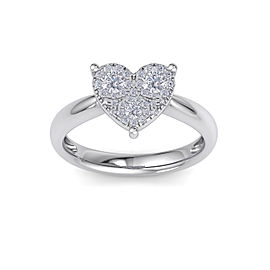 GLAM ® Love ring in 14K gold with white diamonds of 0.26 ct in weight