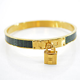 Hermes Metal and Leather bangle bracelet