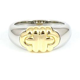 BVLGARI 18K Yellow Gold Steel Parentesi Ring CHAT-19