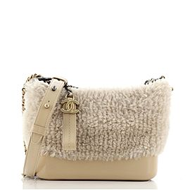 Chanel Gabrielle Hobo Shearling and Leather Small