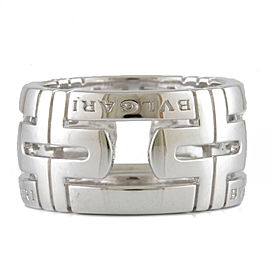 BVLGARI 18K white gold Parentesi Ring CHAT-926