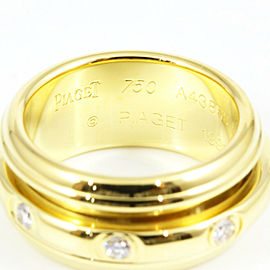 Piaget 18K Yellow Gold Diamond Pocession Ring CHAT-563