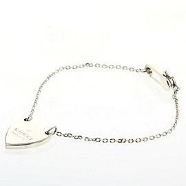 GUCCI 925 Silver Trademark Heart bracelet TBRK-191