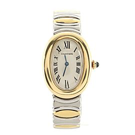 Cartier Baignoire Quartz Watch Stainless Steel and Yellow Gold 22
