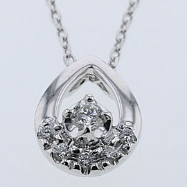 VANDOME AOYAMA 18KWhiteGold / diamond Basic drop motif Necklace TBRK-249