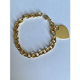 Tiffany & Co. 18K Yellow Gold Heart Tag Charm Bracelet