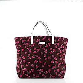 Gucci Heartbeat Tote Printed Canvas Large