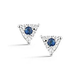 Emily Sarah Blue Sapphire Triangle Studs