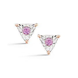 Emily Sarah Pink Sapphire Triangle Studs