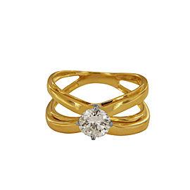Rare Tiffany & Co. Crossover Diamond Ring
