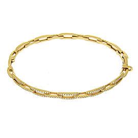 David Yurman 18K Yellow Gold with 0.42ct. Diamond Chain Link Bracelet