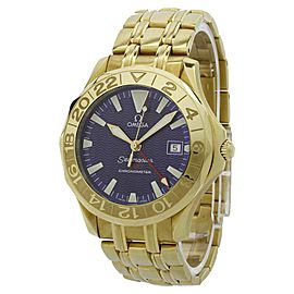 Omega Seamaster GMT 2134.80 41mm Yellow Gold Mens Watch