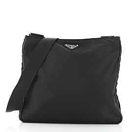 Prada Zip Top Messenger Bag Tessuto Medium