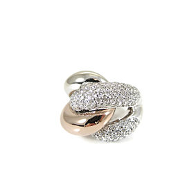 14K White Gold Rose Gold 2.65tcw Custom Made Pave Diamond Knot Ring - Retail $5300